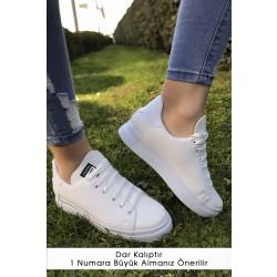 Kalın Taban Spor Ayakkabı Beyaz - 4444.264.