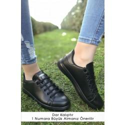 Kalın Taban Spor Ayakkabı Siyah - 4444.264.